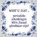 Periodiek doneren heeft zo zijn voordelen!