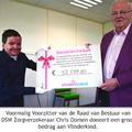 Chris Oomen doneert royaal bedrag aan Vlinderkind